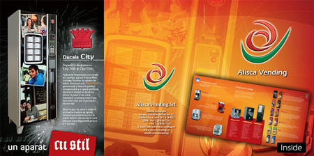Alisca Vending Leporello graphic design