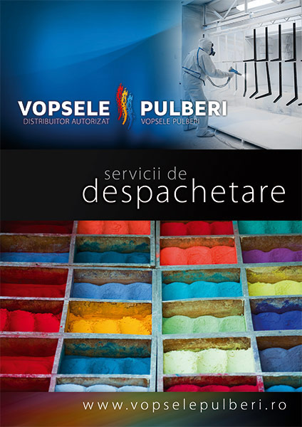 Vopsele Pulberi flyer graphic design