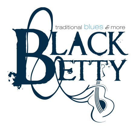 Black Betty Blues Band Logo design