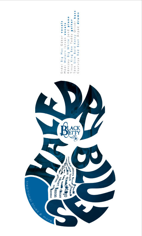Black Betty Poster graphic design