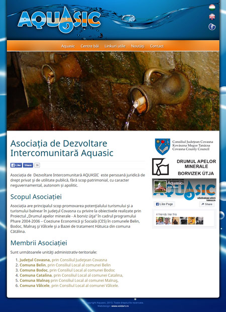 www.aquasic.ro web design