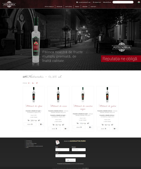 potionobilis.ro web design